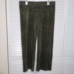 Juicy Couture Velour Track Pants Medium EUC